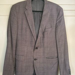 Hugo Boss Windowpane Purple Sport Coat